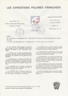 TAAF - Kerguelen - Notice N°73 - 20e Ann. EPF Paul-Emile Victor PEV Oblit. 1e Jour Port-aux-Français 23-11-1978 - Terres Australes Et Antarctiques Françaises (TAAF)