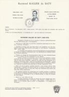 TAAF - Kerguelen - Notice N°76 - Raymond Rallier Du Baty Oblit. 1e Jour Port-aux-Français 12-04-1979 - Terres Australes Et Antarctiques Françaises (TAAF)