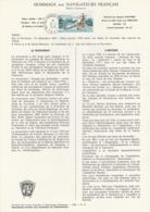 TAAF - Kerguelen - Notice N°77 - Hommage Aux Navigateurs Français Oblit. 1e Jour Port-aux-Français 12-04-1979 - Terres Australes Et Antarctiques Françaises (TAAF)