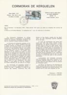 TAAF - Kerguelen - Notice N°78 - Oiseau Cormoran De Kerguelen Oblit. 1e Jour Port-aux-Français 12-04-1979 - Terres Australes Et Antarctiques Françaises (TAAF)