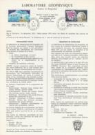 TAAF - Kerguelen - Notice N°PA51/52 - Laboratoire Géophysique Oblit. 1e Jour Port-aux-Français 12-04-1979 - Terres Australes Et Antarctiques Françaises (TAAF)