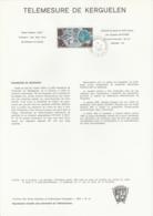 TAAF - Kerguelen - Notice N°PA56 - Satellite Télémesure De Kerguelen Oblit. 1e Jour Port-aux-Français 1-2-1980 - Terres Australes Et Antarctiques Françaises (TAAF)