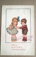 CARTOLINA DISEGNATA FIRMATA BERTIGLIA - GOLA - VIAGGIATA 1917   (181) - Bertiglia, A.
