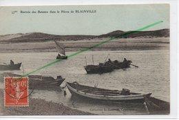 BLAINVILLE SUR MER RENTREE DES BATEAUX DANS LE HAVRE DE BLAINVILLE - Blainville Sur Mer