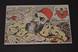 Carte Postale 1910 Illustrateur Lion Son Rêve Son Cauchemar ABDUL HAMID - Lion