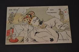 Carte Postale 1910 Illustrateur Lion Son Rêve Son Cauchemar NICOLAS II - Lion