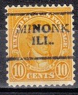 USA Precancel Vorausentwertung Preo, Locals Illinois, Minonk 642-701 - Vereinigte Staaten