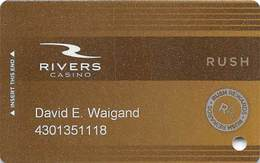 Rivers Casino - Pittsburgh PA - Slot Card With RP And PG Manufacturer Marks - Casinokarten