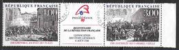 FRANCE  2538A Triptyque Bicentenaire De La Révolution Philexfrance 89. - Oblitérés