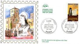 France - FDC 2005 - Yt 3760 - Loi Sur La Séparation De L'église Et De L'état - 2000-2009
