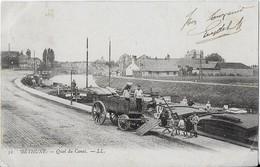 BETHUNE : Quai Du Canal Et Activités Autour D'une Péniche - Bethune