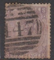 Great Britain SG 109 1867 6d Mauve, Used - 1840-1901 (Victoria)