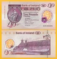 Northern Ireland 10 Pounds P-new 2017(2019) Bank Of Ireland UNC Banknote - Noord-Ierland