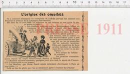 Presse 1911 Affiche Création De La Compagnie Des Omnibus En 1828 (Paris) Saint-Gérand Boitard Blaise Pascal Pensées 226J - Vecchi Documenti