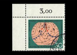 BRD 1973, Michel-Nr. 760, 100 Jahre Internationale Meteorologische Zusammenarbeit, 30 Pf., Eckrand Links Oben - Gebraucht