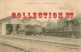 28 ☺♥♥♥ COURTALAIN < DEPOT Des MACHINES à La GARE - TRAIN - BAHNHOF - Courtalain