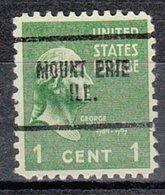 USA Precancel Vorausentwertung Preo, Locals Illinois, Mount Erie 704 - Vereinigte Staaten