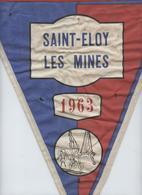 Saint Eloy Les Mines, Oriflamme En Tissu,fanion,  1963, Gymnastique, Sport, St Eloy, Triangle, 31 X 37 - Gymnastics