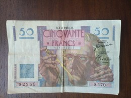 France BILLET 50 FRANCS 1951 - 1871-1952 Circulated During XXth