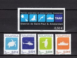 TAAF Poste 741/745 NEUFS** TRES BEAUX - Französische Süd- Und Antarktisgebiete (TAAF)