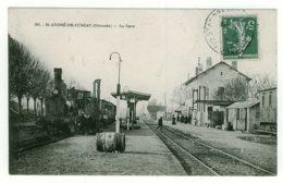 33 - T50503CPA - SAINT ANDRE DE CUBZAC - La Gare - Très Bon état - GIRONDE - France