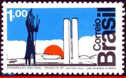Ref. BR-1266 BRAZIL 1972 ARCHITECTURE, CONGRESS BUILDING BY, OSCAR NIEMEYER, SCULTURE, MI# 1350, MNH 1V Sc# 1266 - Other