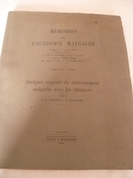 Madagascar : Livre Rare ,  De Chapus Et Mondain   1940 - Andere