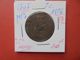 """Léopold 1er. 5 Centimes 1856 FR """" 25e ANNIV.PRESTATION DE SERMENT"""" MORIN N°M/7 - 1831-1865: Léopold I"""