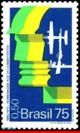 Ref. BR-1394 BRAZIL 1975 PLANES, AVIATION, VETERANS OF WORLD WAR II,, SHIPS, MILITARISM, MI# 1487, MNH 1V Sc# 1394 - Bateaux