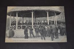 Carte Postale 1910 Camp De Chambaran (38) Le Kiosque Fanfare - Manoeuvres