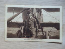 Aviation - Avion - Aviateur - Lt. Roget Met Breguet Toestel - E.L.T.A. - Amsterdam - 2 Scans. - Aviateurs