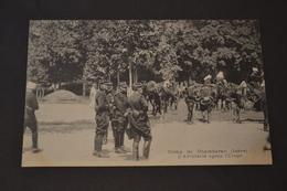Carte Postale 1910 Camp De Chambaran (38) L'artillerie Après L'étape - Manoeuvres