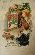 X-Mass - Weihnachten // Puppenspiel - Marionette (embossed - Prage) 1905 - Kerstmis