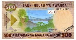 RWANDA 500 FRANCS 2019 Pick New Unc - Rwanda