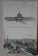 Aviation - Avion - Une Visite Du Roi Albert 1er, En Aéroplane à La Louvière - Le Panorama - Circulée: 1921 - 2 Scans. - Airmen, Fliers