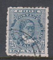 Cook Islands SG 32 1902 Queen Makea 2.5d Deep Blue ,Used, - Cook Islands