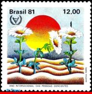 Ref. BR-1759 BRAZIL 1981 HEALTH, INTERNATIONAL YEAR OF, DISABLED PERSON, MI# 1845, MNH 1V Sc# 1759 - Behinderungen