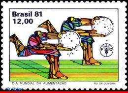 Ref. BR-1766 BRAZIL 1981 HEALTH, WORLD FOOD DAY,, FAO, MI# 1852, MNH 1V Sc# 1766 - Brésil