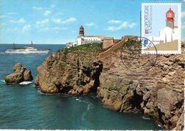 """"""" PHARE DU CAP SAINT VINCENT """" Sur Carte Maximum Du PORTUGAL De 1987 - Vuurtorens"""