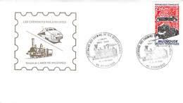 Centenaire Des Chemins De Fer Departementaux Loiret Pithiviers 1892-1992 Locomotive à Vapeur Section Laroche Migennes - FDC