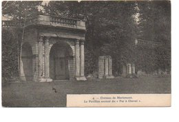 4. CHATEAU DE MARIEMONT. LE PAVILLON CENTRAL DU FER A CHEVAL. - Belgique
