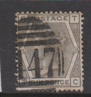 Great Britain SG 147 1874 6d Grey, Used - 1840-1901 (Victoria)