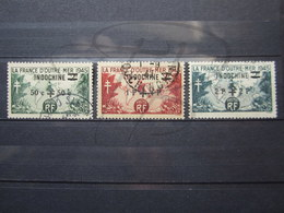 VEND BEAUX TIMBRES D ' INDOCHINE N° 296 - 298 !!! - Indochina (1889-1945)