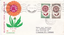 Greece Cover Franked With 1964 Europa CEPT Posted Athens Avion 1964 And Service Philatelique Athens (DD13-47) - 1964