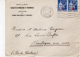 BORDEAUX- ENVELOPPE FACULTE DE MEDECINE ET PHARMACIE - 1941 - France