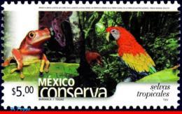 Ref. MX-2413 MEXICO 2005 ANIMALS, FAUNA, CONSERVATION, TROPICAL, FORESTS, BIRDS, PARROT, (5.00P), MNH 1V Sc# 2413 - Protection De L'environnement & Climat
