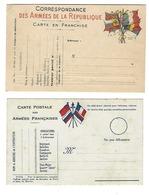 MILITARIA - Correspondance Des Armées - Lot De 2 CPA - Vierges - Patriotiques