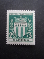 FRANCE Armoirie De Rennes N°534 Neuf ** - 1941-66 Coat Of Arms And Heraldry