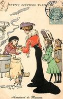 """Paris - Petits Métiers Parisiens - 1906 - Illustrateur Félix Jobbe Duval - """" Marchand De Marrons """" - Petits Métiers à Paris"""