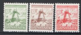 Danimarca 1937 Unif. 246/48 **/MNH VF - Unused Stamps